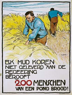 Old Original Dutsch Poster 1912