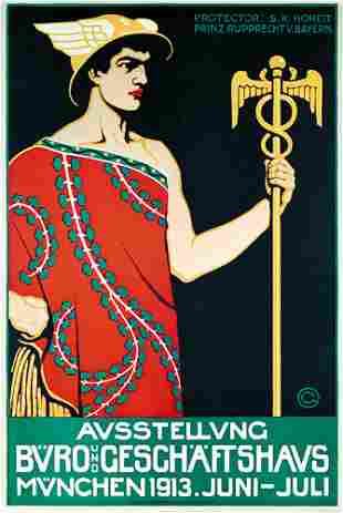 Altes Originalplakat Poster Oskar Graf 1913