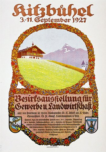 18: Altes Kitzbuehel Plakat 1927