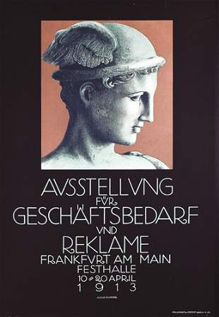Altes deutsches Kunstplakat 1913 ORIGINAL
