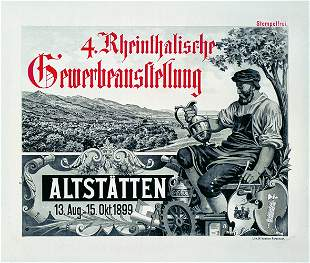 Altes Gewerbe-Ausstellungsplakat 1913