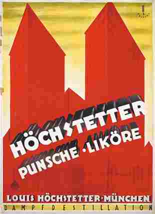 Seltenes Original Likor Plakat Poster 1926