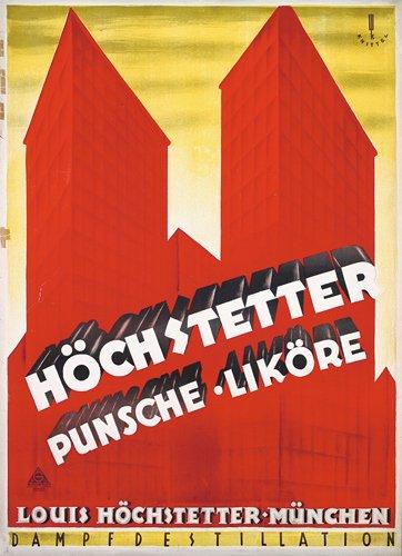 22: Seltenes Original Likor Plakat Poster 1926