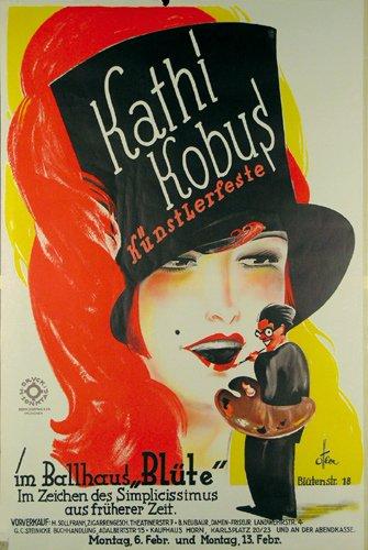 1: ORIGINAL Plakat 1928 Otto Ottler Kuenstlerfest