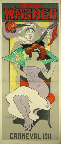 2: ALTES Carneval Plakat Muenchen 1911