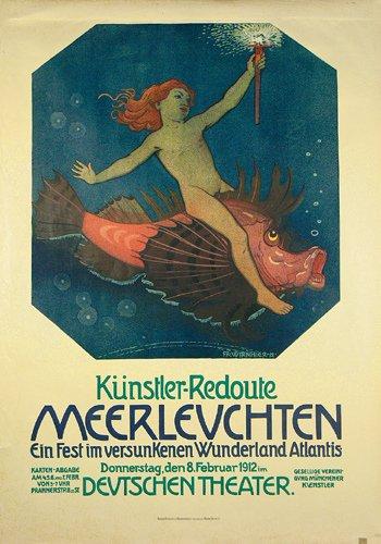 5: Altes Plakat Deutsches Theater 1912