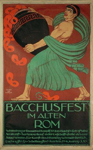7: Tolles Altes Plakat Bacchusfest Rom Poster