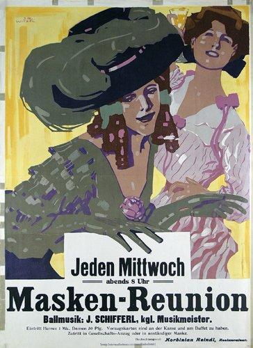 8: Maskenball Plakat ORIGINAL 1913