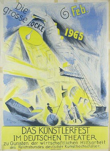 9: TOLLES Altes Plakat 1925 ORIGINAL