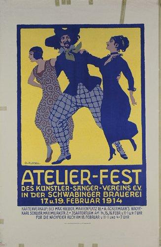 10: Altes deutsches Plakat 1914 ORIGINAL