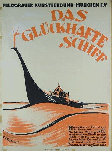 12: Altes Plakat 1925 Kuenstlerbund