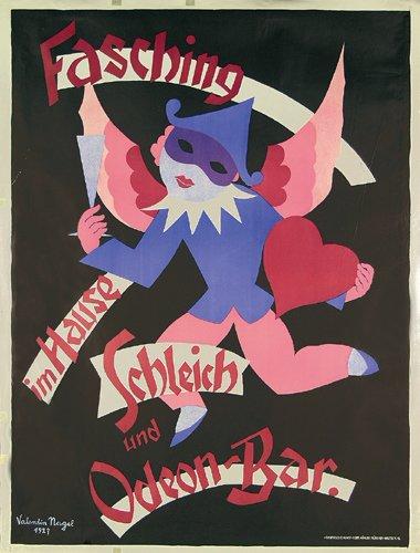 15: Altes Faschingsplakat 1927 Nagel