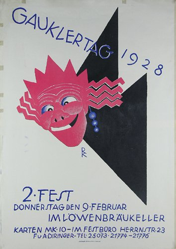 16: ORIGINALPLAKAT Gauklertag 1928