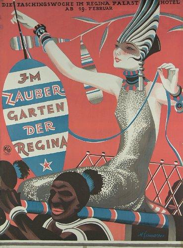 18: Tolles Maskenball Plakat 1928 Muenchen
