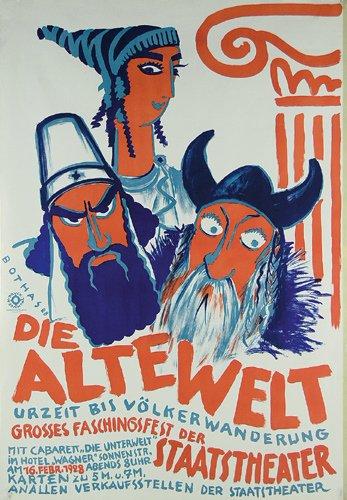 20: Originalplakat Die Alte Welt 1928
