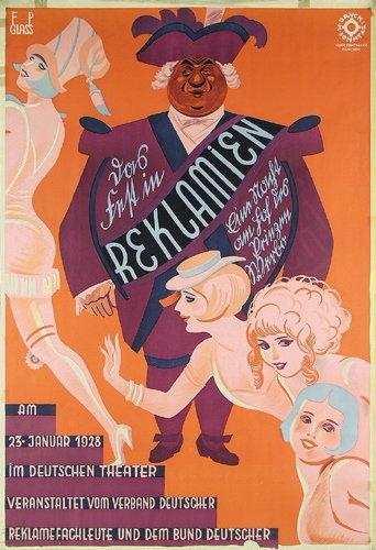 22: Altes Deutsches Plakat 1928 ORIGINAL