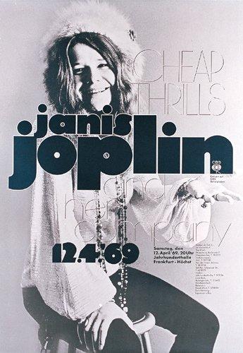 252: Janis Joplin KIESER Plakat 1969 !!!