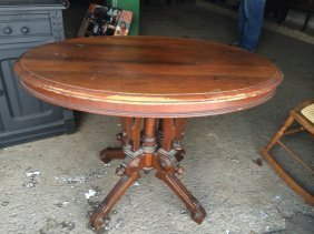 Oval Victorian Centre Table