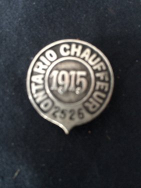 Ontario Chauffeurs Badge