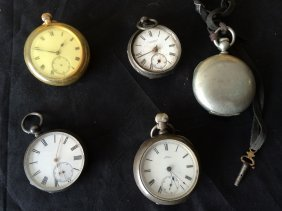 Group,5 Pocket Watches