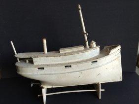 Carved Tugboat.