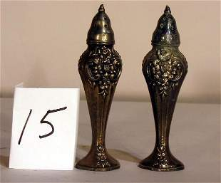 SILVERPLATE SALT AND PEPPER SHAKERS