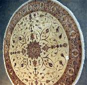 189: PAKISTANI ROUND RUG FLORAL STYLE