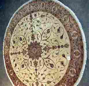 189: PAKISTANI ROUND RUG FLORAL STYLE
