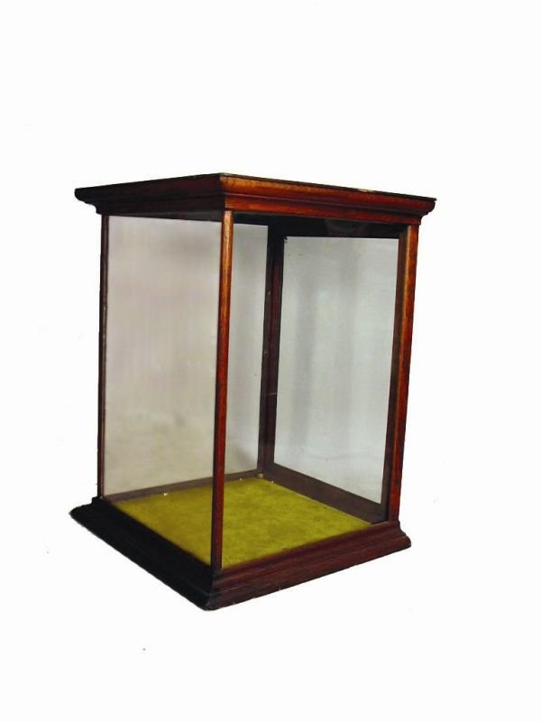 510: OAK TABLETOP GLASS DISPLAY CASE