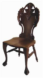 552: CARVED MAHOGANY VICTORIAN PARLOR CHAIR