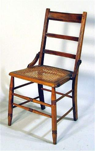 LATE CARVED WALNUT VICTORIAN SIDE CHAIR