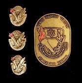 WW2 Israel Jewish 4 Memorial Badge Pin Lepal