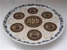 Israel Naaman, Ceramic Porcelain Passover Plate