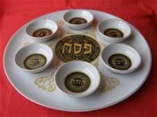 Israel Naaman Jewish Passover Plate Complete Set