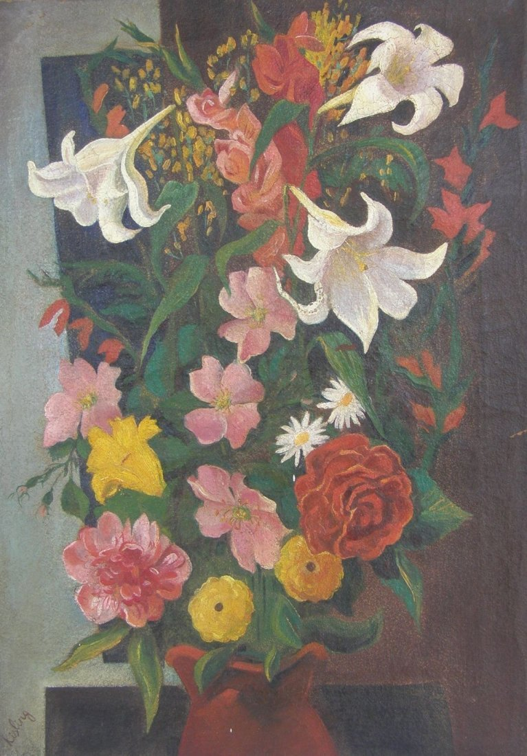 Moise Kisling  (French, 1891 - 1953) oil on canvas