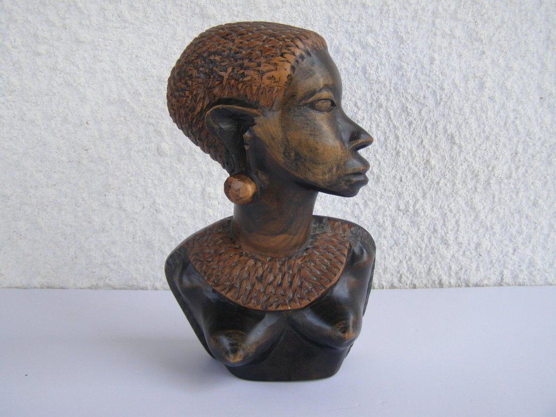 African Ebony female sculpture figurine