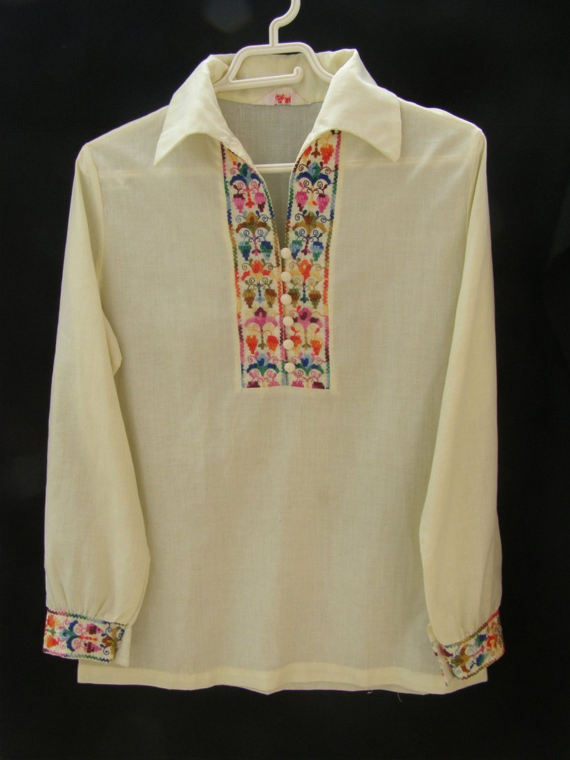 Women's Floral Folk Embroidered Shirt / Blouse