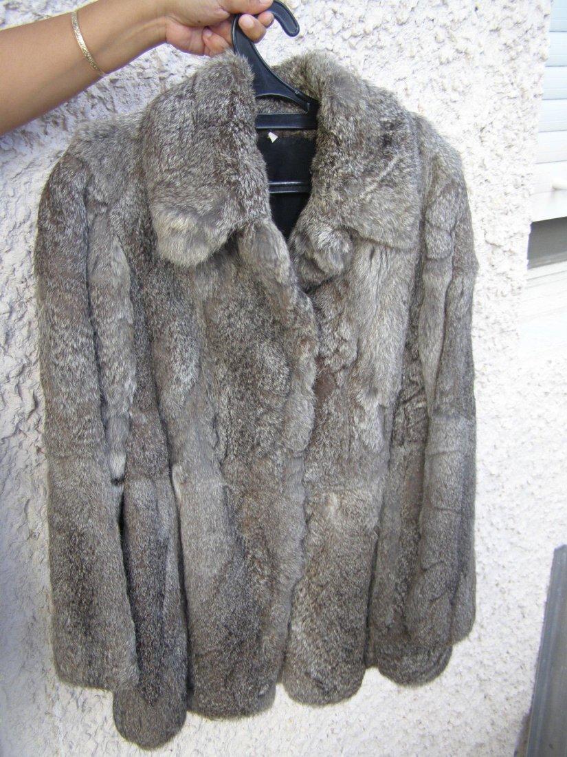 Stunning Vintage Genuine Fur Coat Jacket
