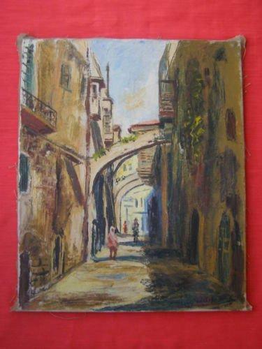 Shaul Ohali {Israel, 1922-2003} oil on canvas
