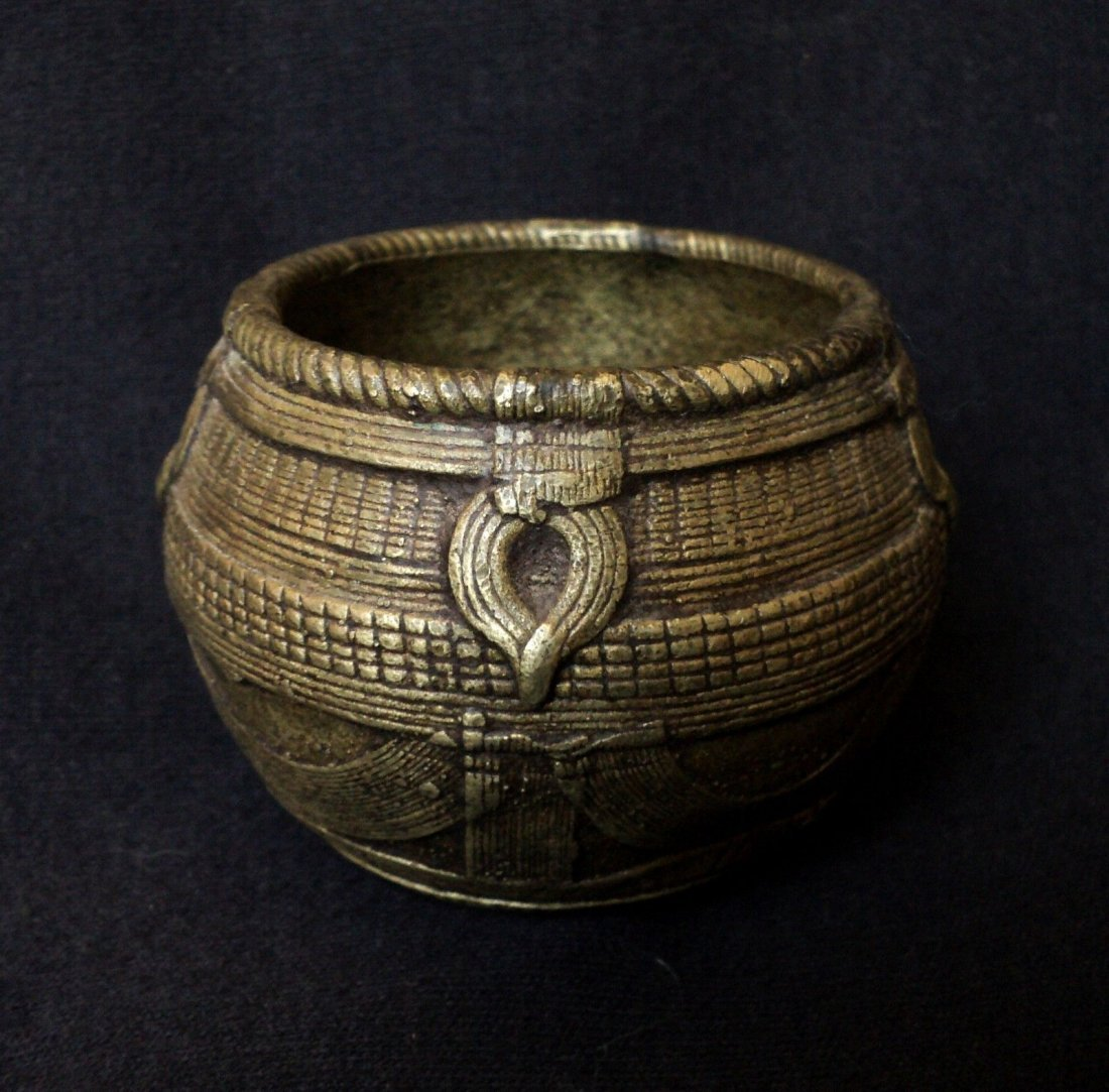 Antique India Trade-Bowl ,Wax Casted Solid Brass