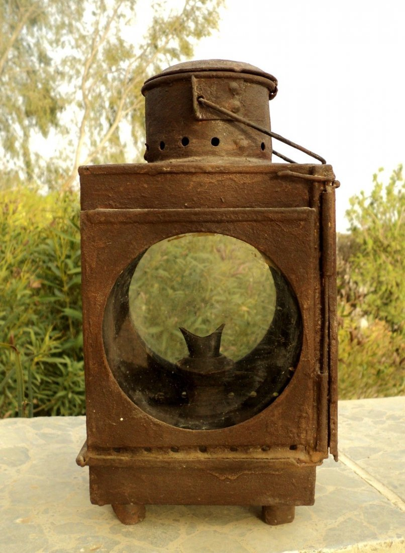 Antique Train Kerosene Lamp, Late 19th Century