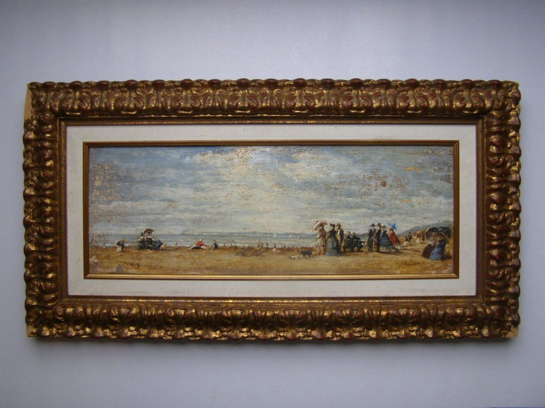 Eugene Louis Boudin (French, 1824-1898) oil on canvas