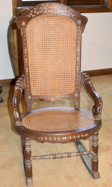 Mother of pearl inlaid rocker