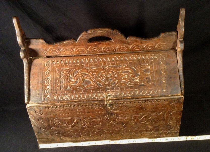 Unique wood carved box