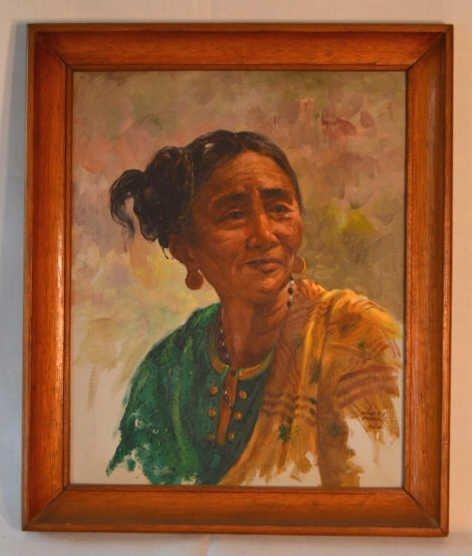 Original Oscar Navarro painting on canvas