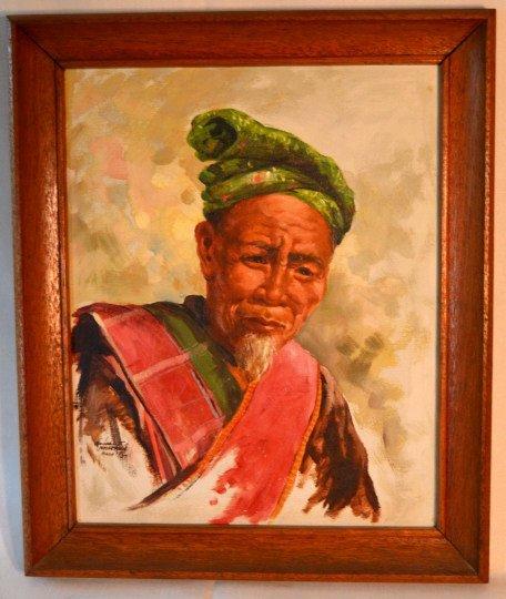 Original Oscar Navarro oil on canvas