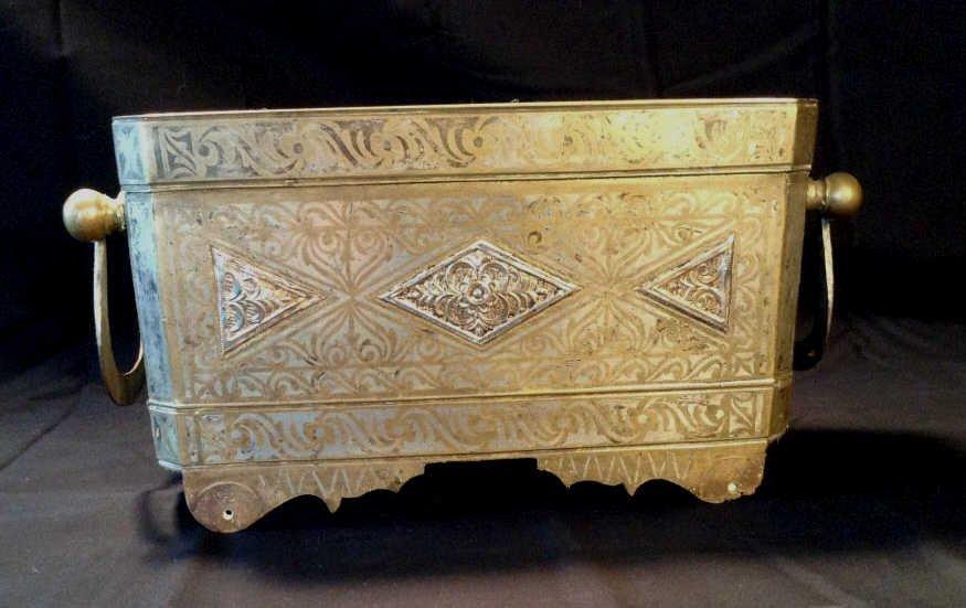 Beautiful Moro-Philippine Betel Box Silver & Brass