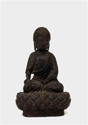 18th Century Chinese Bronze Buddha Lotus Seat