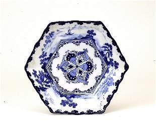 1920 Japanese Blue & White Imari Seto Plate