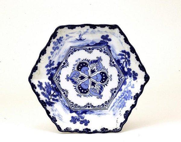 9: 1920 Japanese Blue & White Imari Seto Plate
